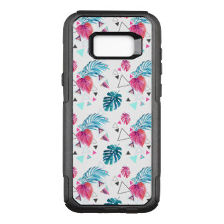 Tropical Leaf Triangle Pattern OtterBox Commuter Samsung Galaxy S8+ Case