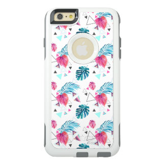 Tropical Leaf Triangle Pattern OtterBox iPhone 6/6s Plus Case