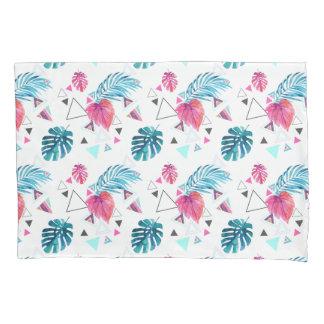 Tropical Leaf Triangle Pattern Pillowcase