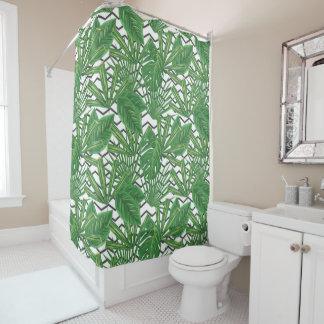 Tropical Leaf Zig Zag | Shower Curtain