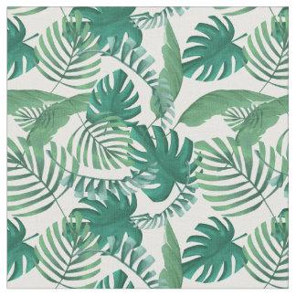 Tropical Leafy Print Fabric