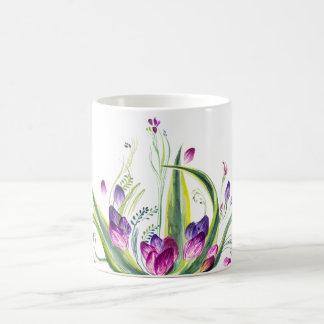 Tropical leaves and flowers for teatime coffee mug