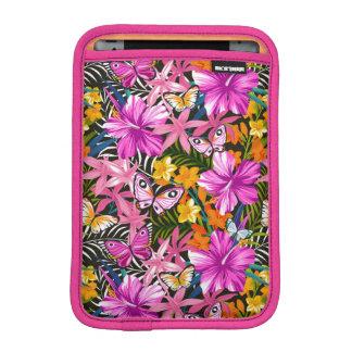 Tropical leaves and flowers iPad mini sleeve