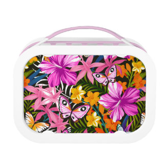 Tropical leaves and flowers lunchboxes