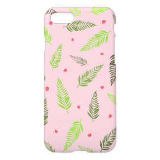 Tropical Leaves and Strawberry Pattern iPhone 8/7 Case