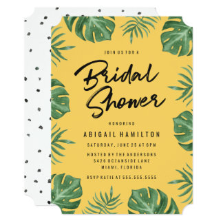 Tropical Leaves | Bridal Shower Invitation