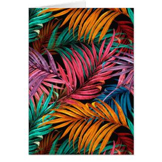 Tropical leaves card