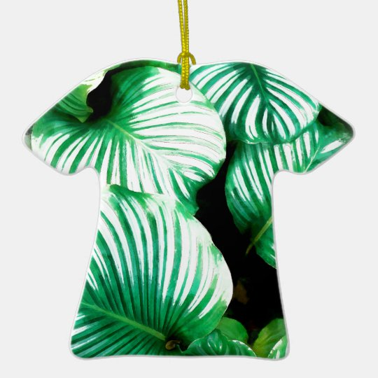 Tropical Leaves Ceramic Ornament