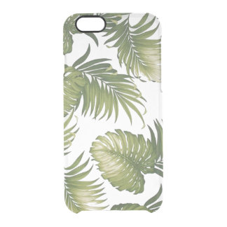 Tropical Leaves Clear iPhone 6/6S Case