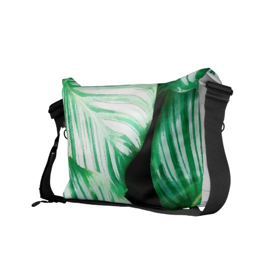 Tropical Leaves Courier Bags