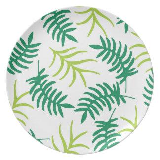 Tropical Leaves Dinnerware Plate