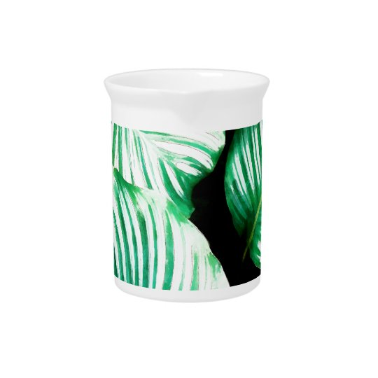 Tropical Leaves Drink Pitcher