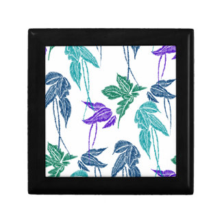 Tropical leaves gift box