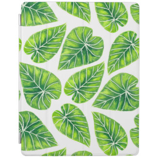 Tropical leaves iPad cover