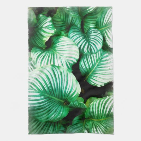 Tropical Leaves Kitchen Towel