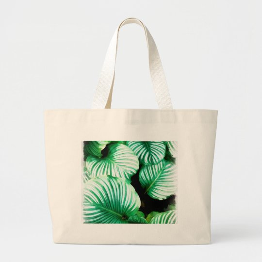 Tropical Leaves Large Tote Bag