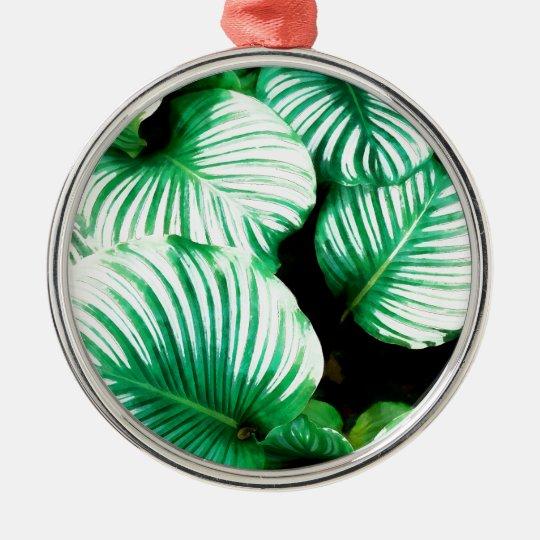 Tropical Leaves Metal Ornament