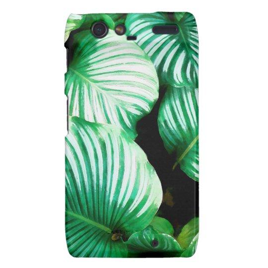 Tropical Leaves Motorola Droid RAZR Case