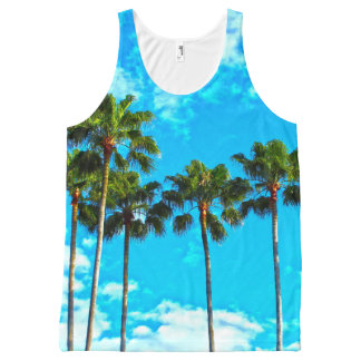 Tropical 🌴 Leaves Palm tree Tank top
