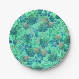 Tropical Leaves Paper Plate
