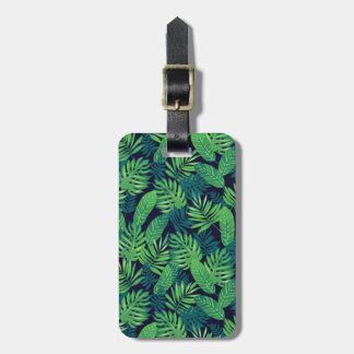 Tropical Leaves Pattern Bag Tag
