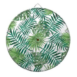 Tropical Leaves pattern Dartboard