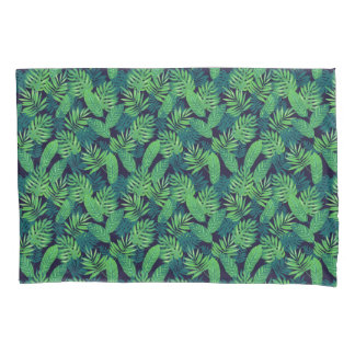 Tropical Leaves Pattern Pillowcase