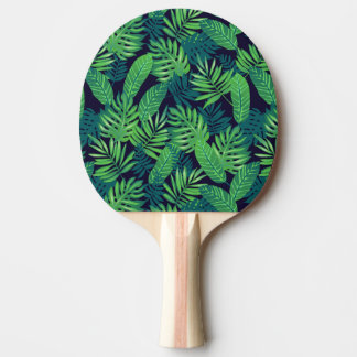 Tropical Leaves Pattern Ping Pong Paddle