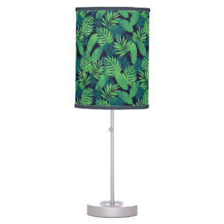 Tropical Leaves Pattern Table Lamps