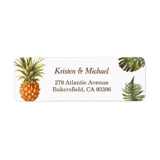 Tropical Leaves Pineapple Decor Luau Wedding