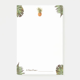 Tropical Leaves Pineapple Stylish Multi Purposes Post-it Notes