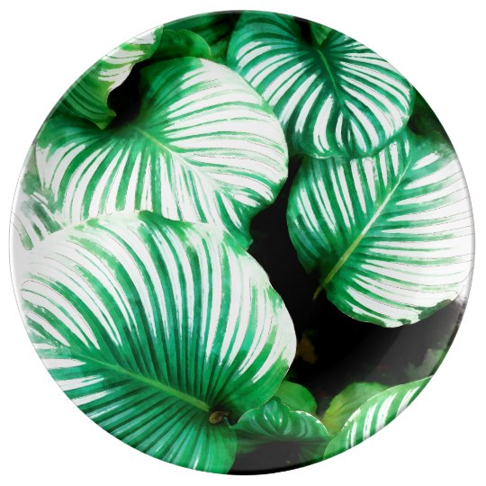 Tropical Leaves Plate