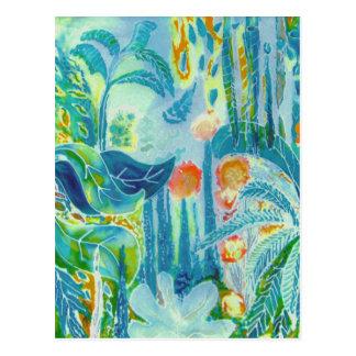 Tropical Leaves. Postcard