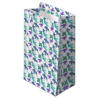 Tropical leaves small gift bag