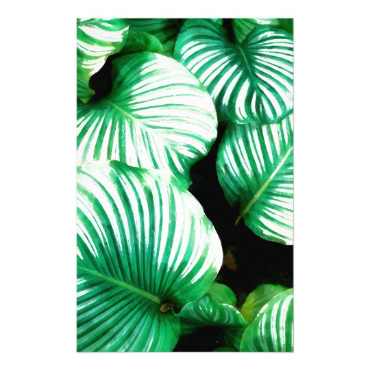 Tropical Leaves Stationery Design