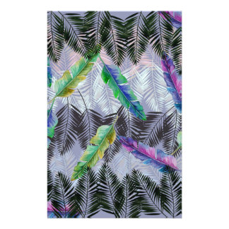 Tropical Leaves Stationery Paper