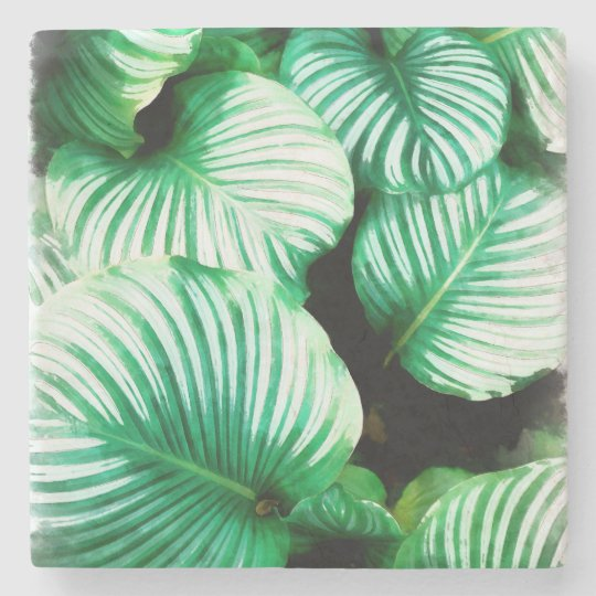 Tropical Leaves Stone Coaster