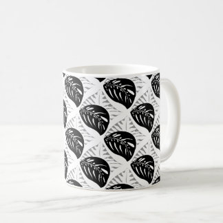 Tropical Leaves Tessellations Mug