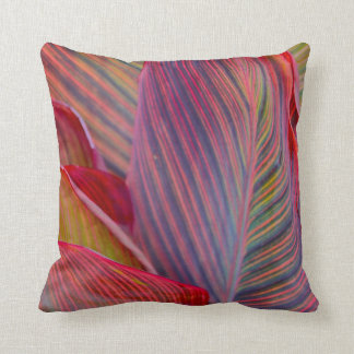 Tropical Leaves Throw Pillow