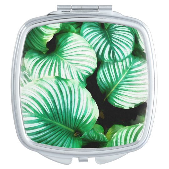 Tropical Leaves Travel Mirrors
