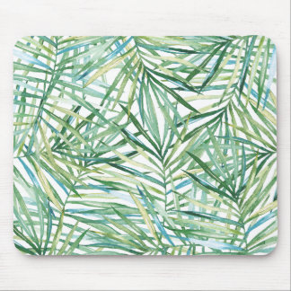 Tropical Leaves Watercolor Mouse Pad