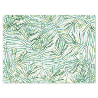 Tropical Leaves Watercolor Tissue Paper