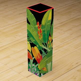 Tropical Leaves Wine Gift Box
