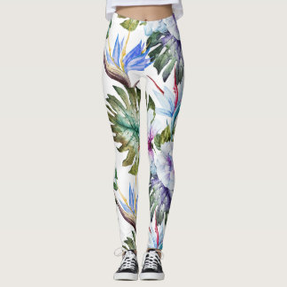 tropical leggings 80s pop