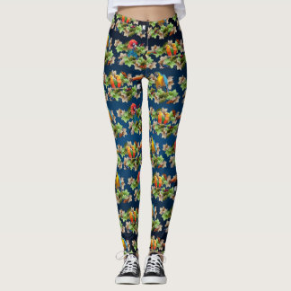 Tropical Leggings (Navy Blue Mix)
