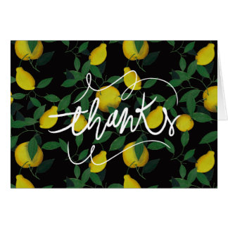 Tropical Lemon Card