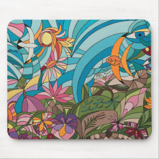 Tropical life mouse pad