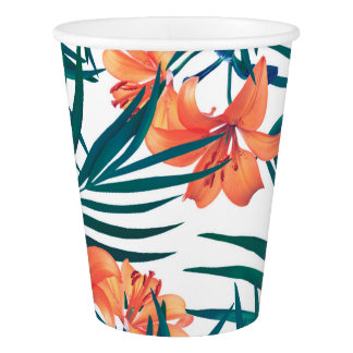 Tropical Lilies Paper Cups