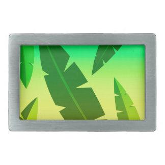tropical lime rectangular belt buckle