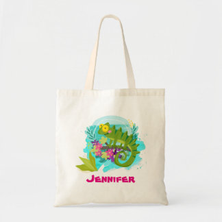 Tropical Lizard with Flowers Personalized